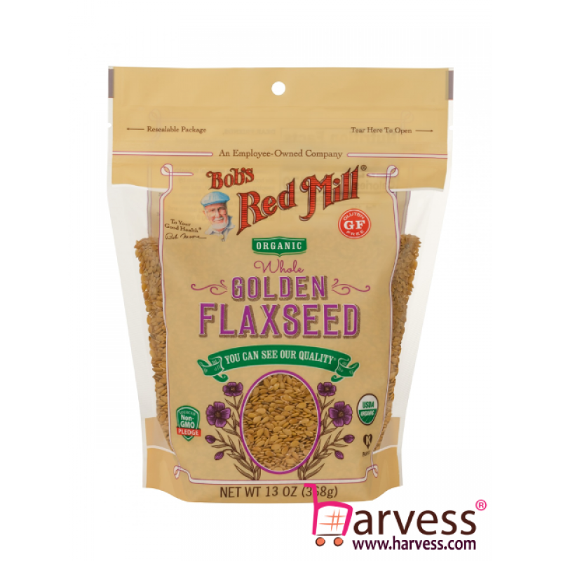 BOB'S RED MILL Organic Gluten Free Whole Golden Flaxseeds (368g)