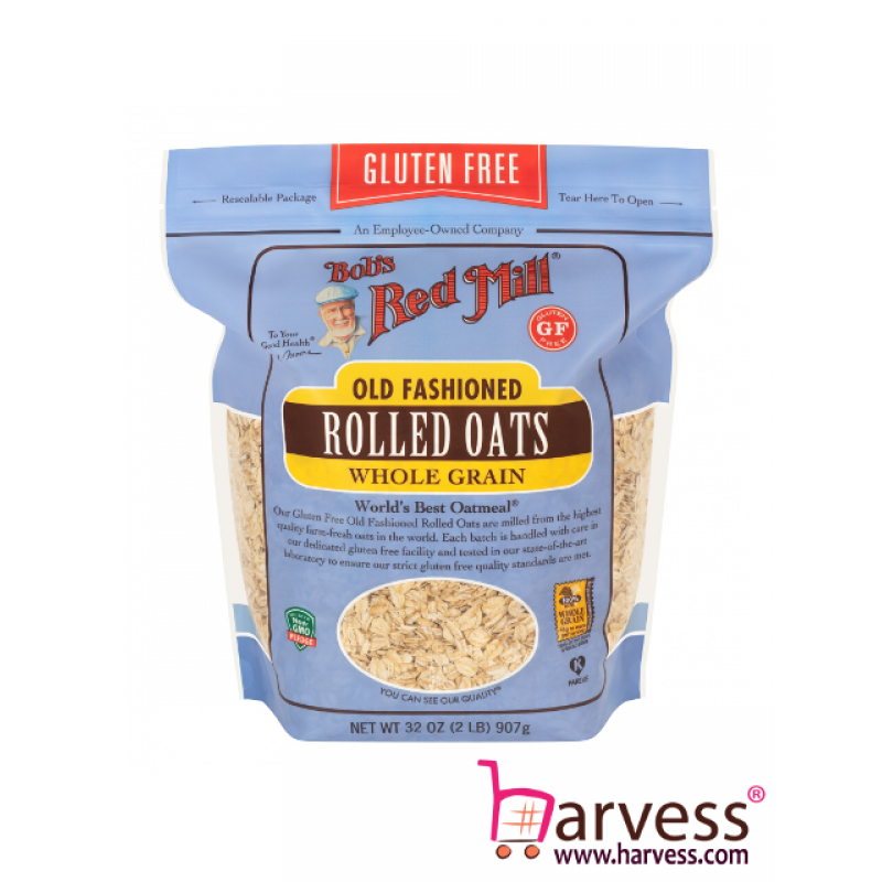 BOB'S RED MILL Gluten Free Old Fashioned Rolled Oats (907g)