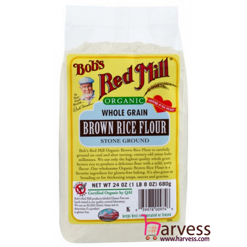 BOB'S RED MILL Gluten Free Organic Brown Rice Flour (680g)