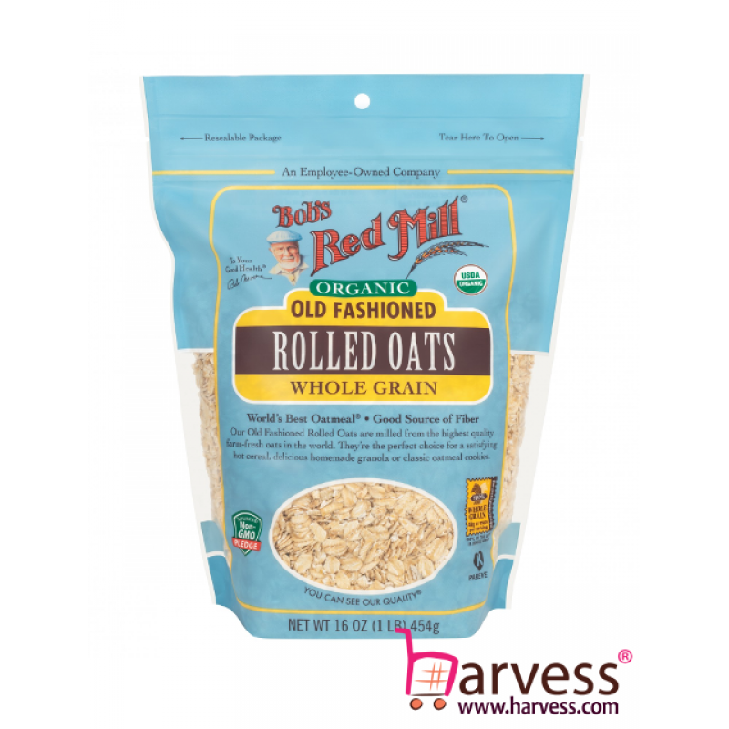 BOB'S RED MILL Organic Old Fashioned Rolled Oats (454g) EXP: 06/2020