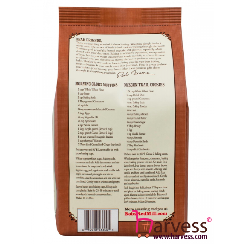 BOB'S RED MILL Whole Wheat Flour (1360g)