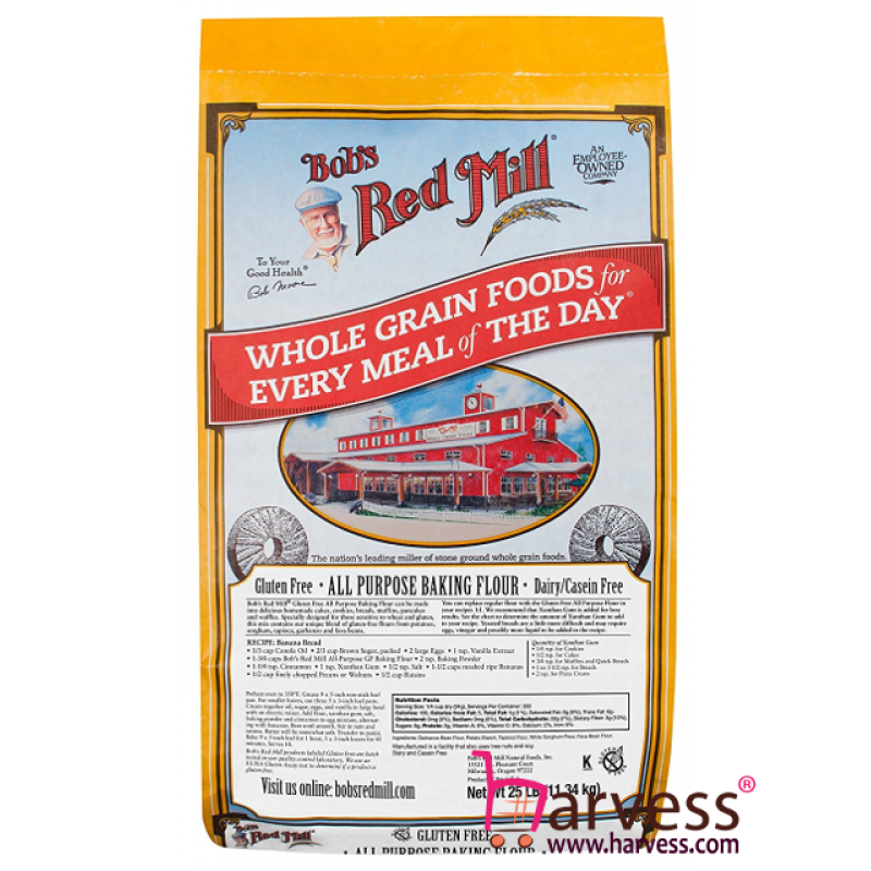 BOB'S RED MILL Gluten Free All purpose Baking Flour Food Service Pack (11.34kg)