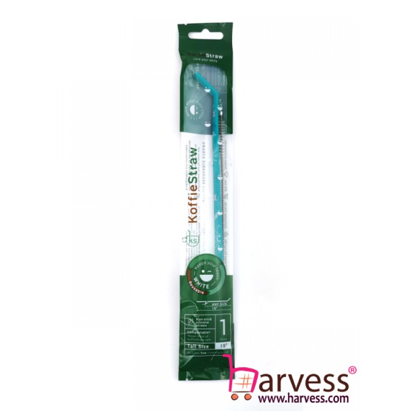 "KOFFIESTRAW - Single Pack: Surf-Deco 10"" with Brush (In Home-Compostable Packaging)"