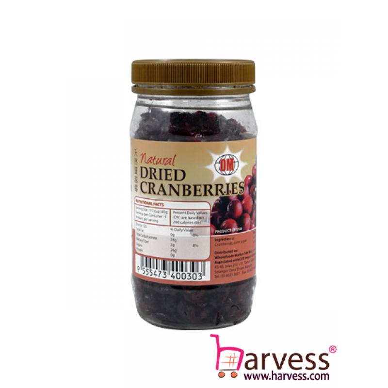 OM Natural Dried Cranberries (200g)