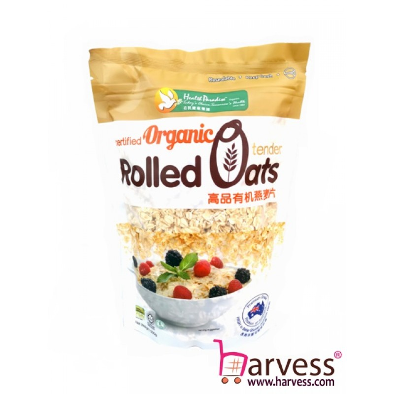 HEALTH PARADISE Organic Rolled Oats (500g)