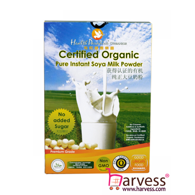 HEALTH PARADISE Organic Soy Milk Powder (No Sugar) (500g)