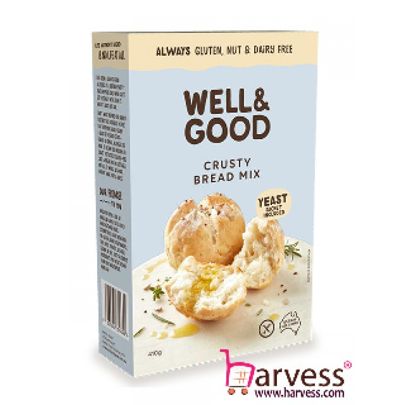 WELL & GOOD Crusty Bread Mix, Gluten, Nut & Dairy Free (410g) EXP: 03/2020