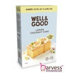 WELL & GOOD Lemon Coconut Cake With Goji Berry Icing, Gluten, Nut & Dairy Free (475g)